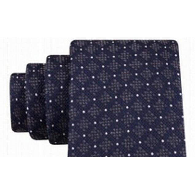 Michael Kors Men's Luxuriant Neat Tie Blue Size Regular