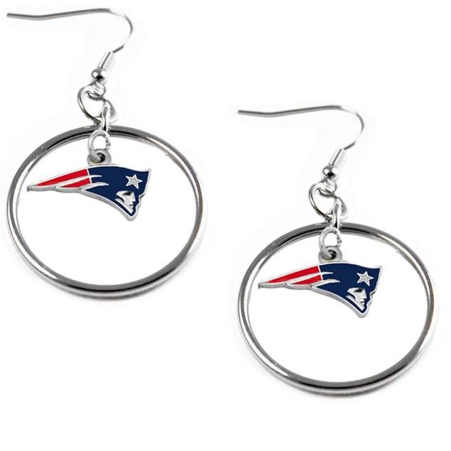 NFL Floating Logo Hoop Earring Set Charm Gift