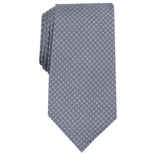 Tasso Elba Men's Mini Silk Tie Gray Size Regular