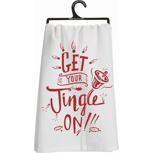 """Primitives By Kathy Kitchen Towel -""""Get Your Jingle On"""""""