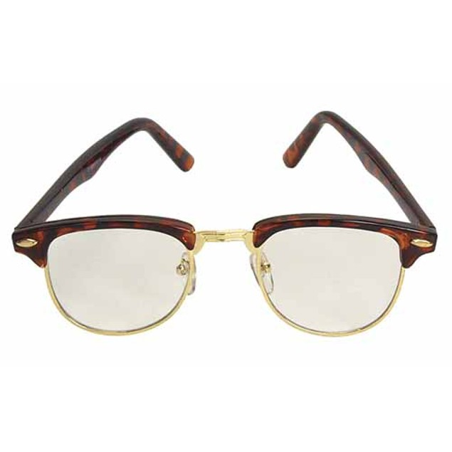 Nerdy Soho Glasses With Tortoise and Gold Frames Malcolm X 50's
