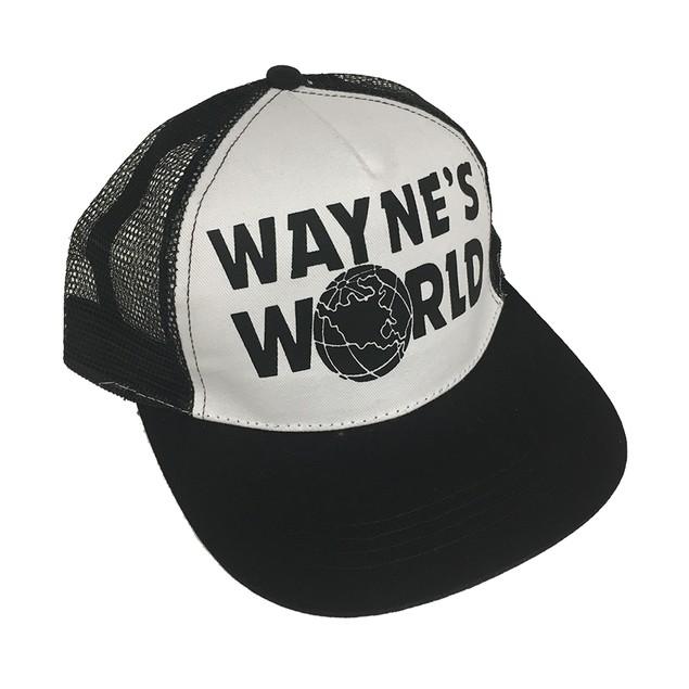 White And Black Wayne's World Trucker Hat