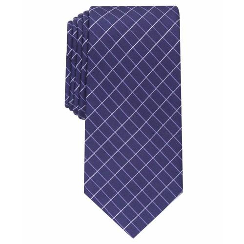 Alfani Men's Slim Grid Tie Purple One Size