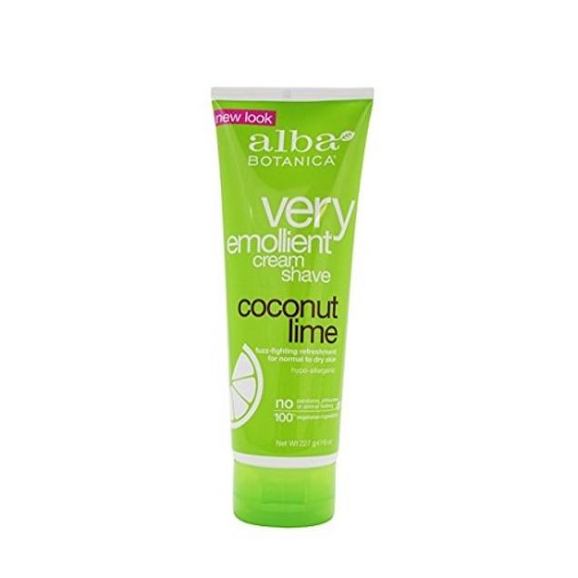 Alba Botanica Very Emollient Cream Shave Coconut Lime
