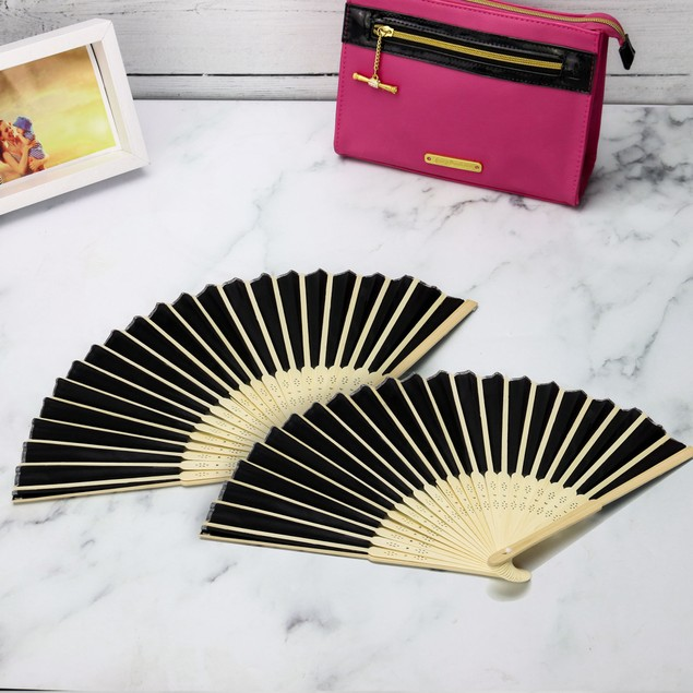 Japanese Bamboo Folding Fans - Pack of 10 | Pukkr