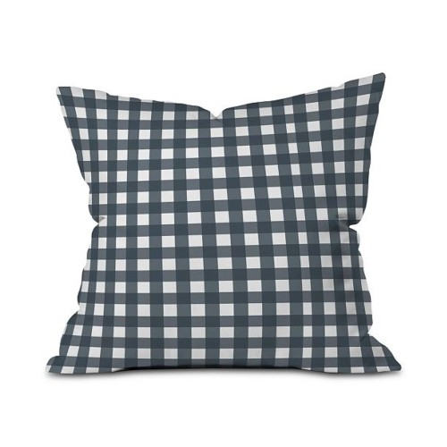 Deny Designs Check Design Outdoor Throw Pillow, Polyester Fabric & Fill,