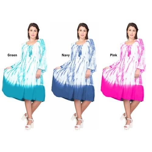Women's Short 3/4 Sleeves Casual Summer Dress