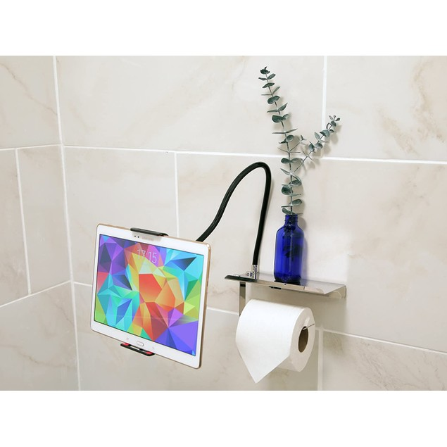 Elbee Home Cell Throne Toilet Paper & Extendable Phone Arm
