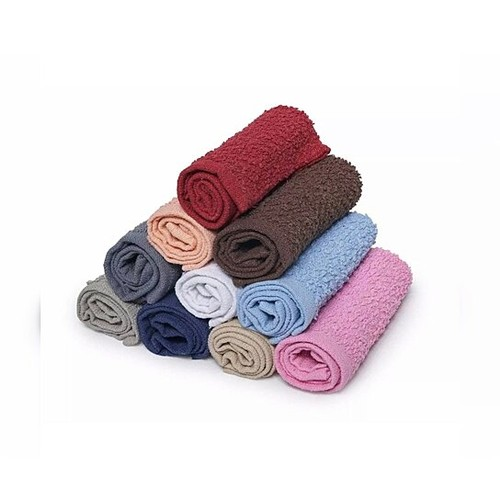 12-Pack:100% Cotton Absorbent Kitchen Washcloth/Dish Cloth Towel Set