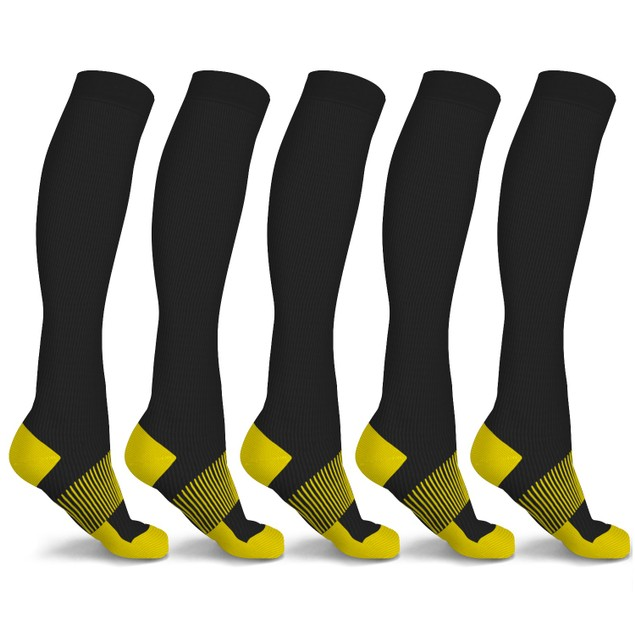 6 Pairs of xFit Copper-Infused Knee-High Compression Socks