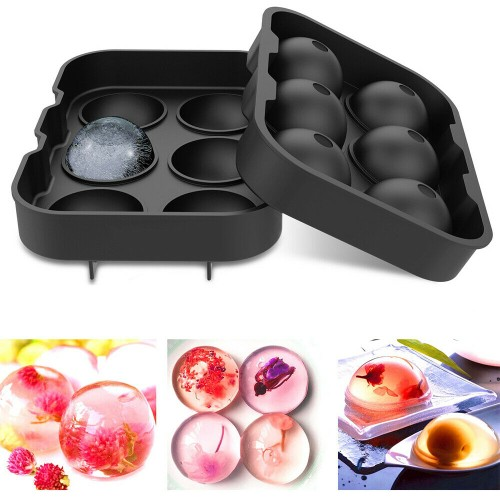 Ice Cube Silicone Trays 1.8 Inch Ice Ball Maker Mold for Whiskey Cocktails