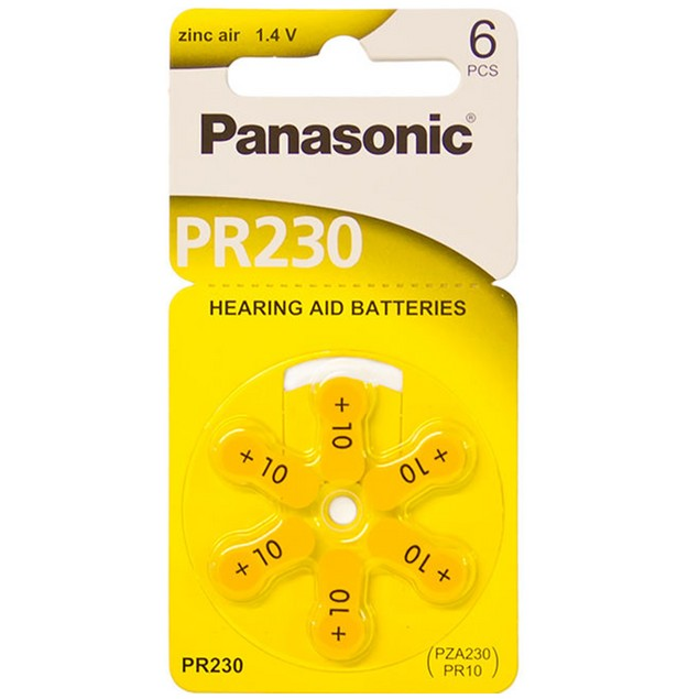 Panasonic Size 10 Zinc Air Hearing Aid Batteries (60 pack)