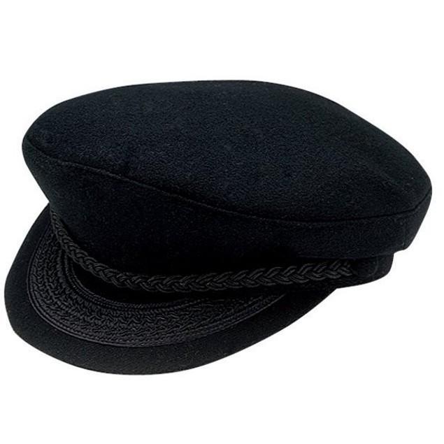 Greek Fisherman Adult Hat Black Braided Costume Sailor Fishing Captain Cap