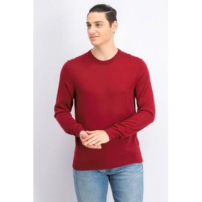 Alfani Men's Merino Blend Solid Crewneck Sweater Red Size Medium