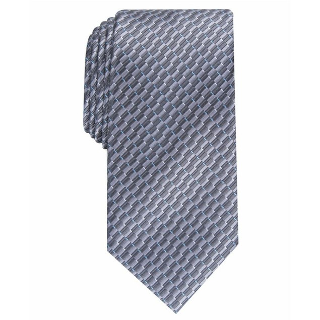 Perry Ellis Men's Portage Neat Tie Charcoal Size Regular