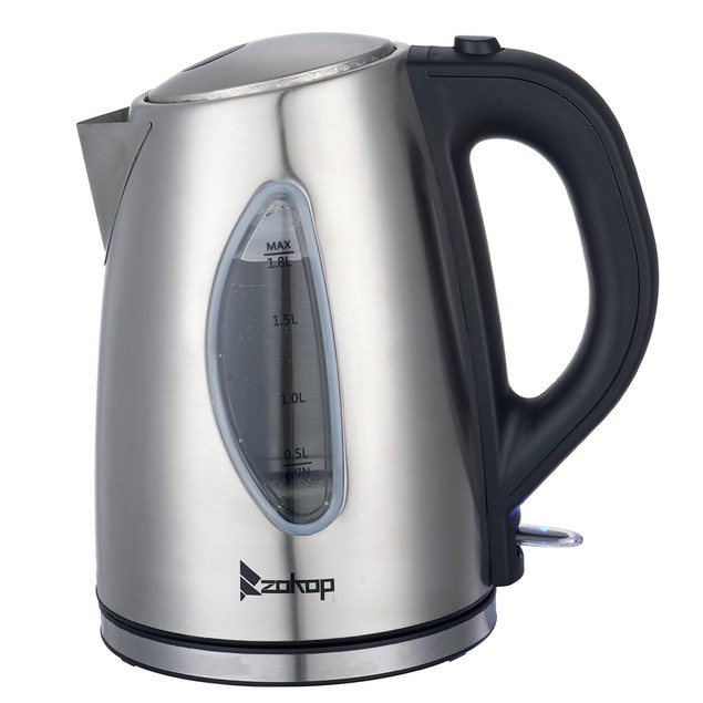 1.8L Stainless Steel Electric Kettle With Water Window