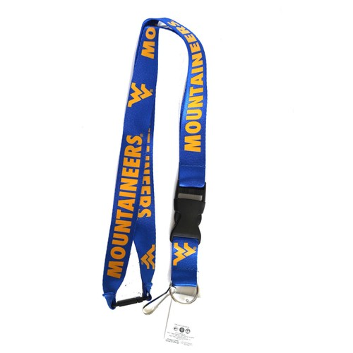 West Virginia Mountaineers Lanyard Keychain Id Ticket - Blue