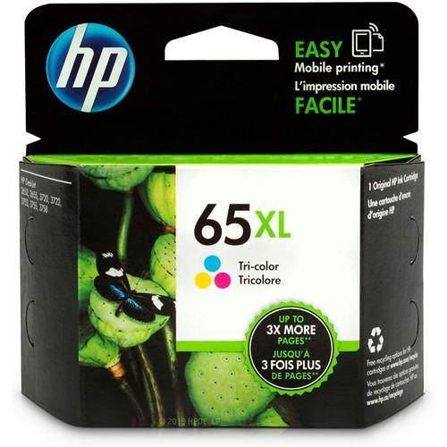 HP 65XL | Ink Cartridge | Works with HP Deskjet 2600 Series, 3700 Series, HP ENVY 5000 Series, HP AMP 100, 120, 125, 130 | Tri-color | N9K03AN