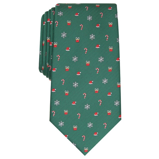 Club Room Men's Classic Holiday Tie Green Size Regular