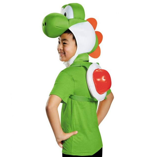 Yoshi Child Costume Kit Super Mario Bros Nintendo Kids Shell Headpiece