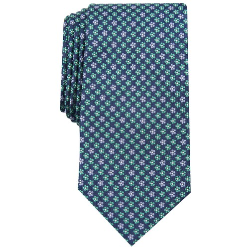 Club Room Men's Daisy Neat Tie Blue Size Regular