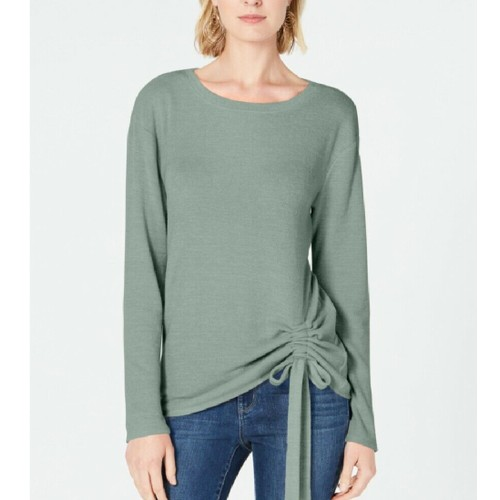 INC International Concepts Women's Ruched Top Green Size Extra Large