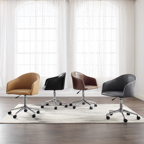 Art Leon Round Back Home Office Chair with Caster