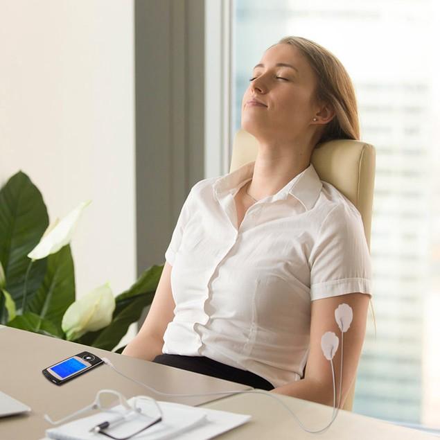 Rechargeable Tens Unit Machine Impulse Massager 16 Modes Pain Relief