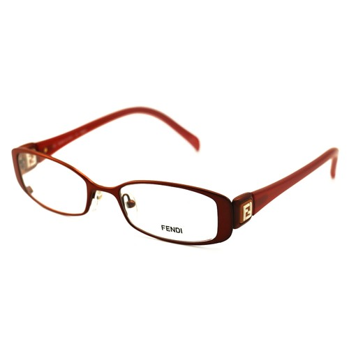 Fendi Women's Eyeglasses F901 222 Red 50 18 135 Metal Full Rim