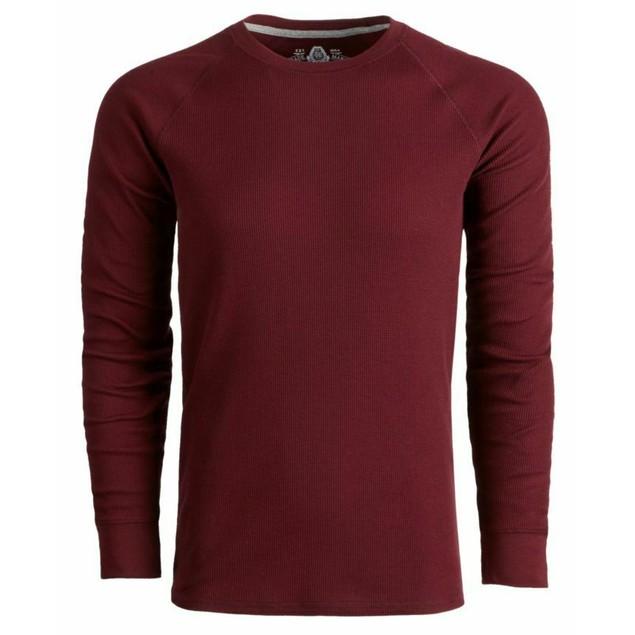 American Rag Men's Thermal Shirt  Wine Size XX Large