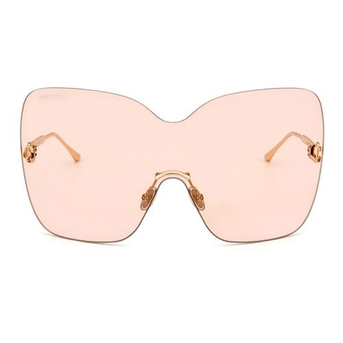 Jimmy Choo Womans Sunglasses JCHZELMAS Gold Copper 55 21 140 Rectangular Mirror
