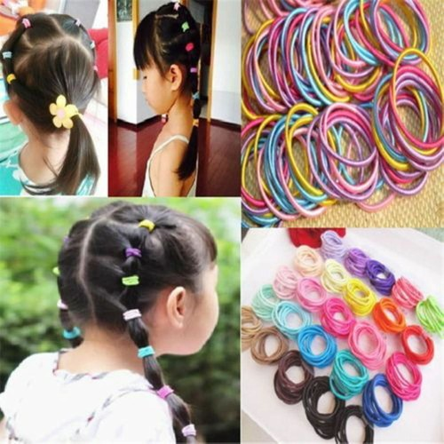 50 Pcs Elastic Rope Women Hair Ties Ponytail Holder Head Band Hairbands