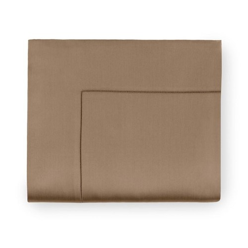 Sferra Giotto California King Flat Sheet Dark Khaki