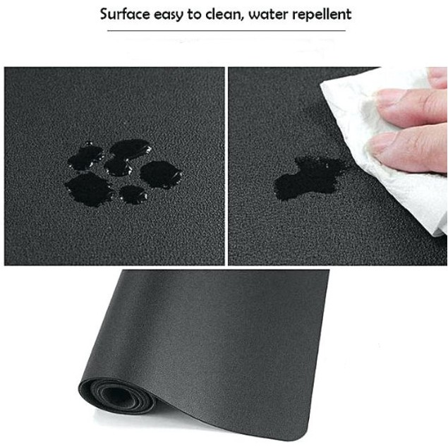 Microfiber Leather Pad Desk mat For Protection of Tabletop Surface Black
