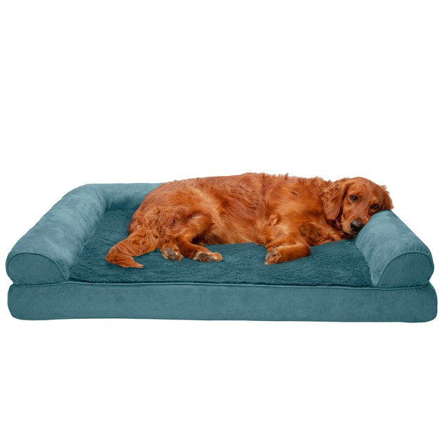 FurHaven Pet Bed | Solid Orthopedic Ultra Plush Sofa Bed for Dogs & Cats