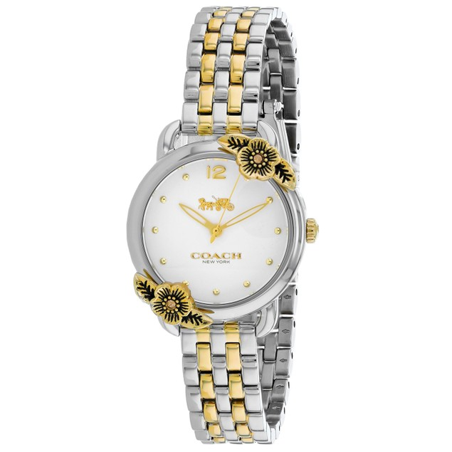 Coach Women's Delancey Tea Rose Silver Dial Watch - 14503212