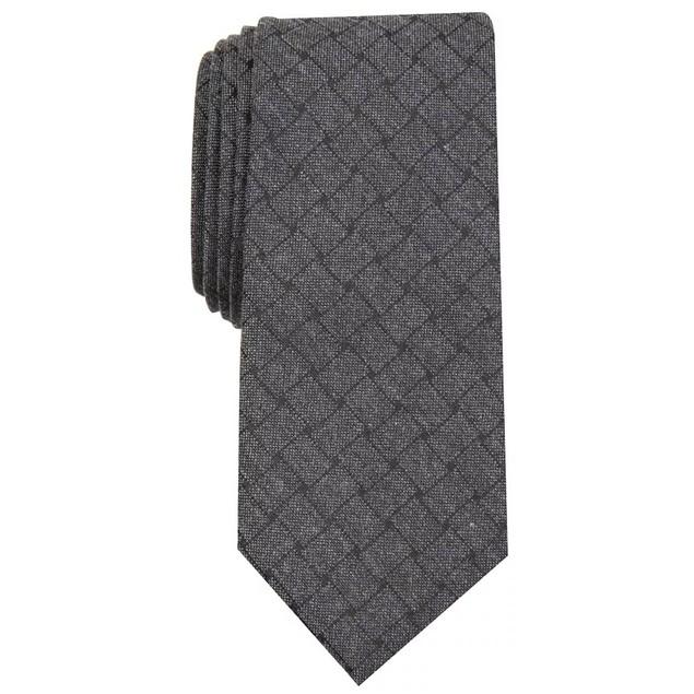 Alfani Men's Solid Mode Tie Charcoal Size Regular