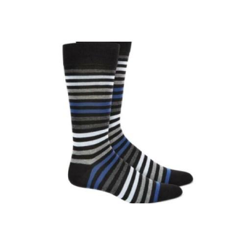 Alfani Men's Striped Dress Socks  Navy Size Osfa Reg