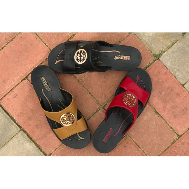 AEROSOFT Taboo Open Toe Comfortable Slide Sandals for Women