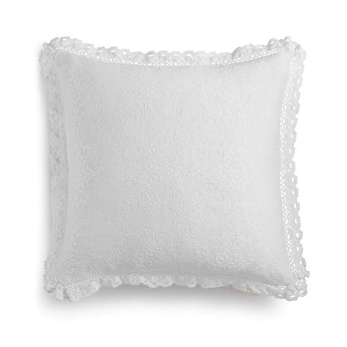 """Lacourte Harlow Handcrafted Matelassé 20"""" Square Decorative Pillow"""