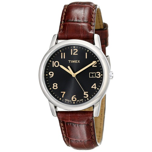 Timex Mens South Street Brown Croco Pattern Leather Strap Watch