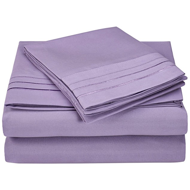 Embroidered 3-LINE Sheet Set, Wrinkle Free Microfiber, GIFT BOX