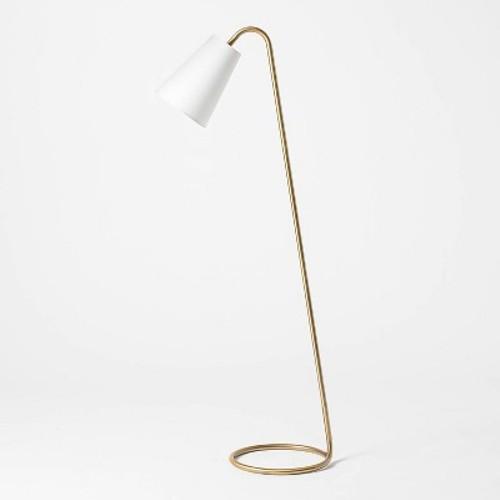Threshold Leaning Brass Floor Lamp