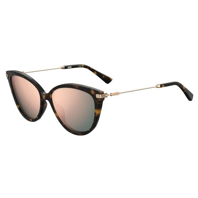 Moschino Women Sunglasses MOS069S 086 Havana Cat Eye/Butterfly Multilayer