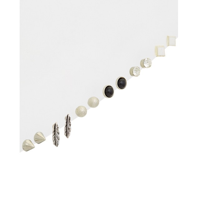 Silver Plated Earring Stud Sets - 6 Pair in Each!