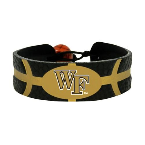 Wake Forest Demon Deacons Team Color NCAA  Basketball Bracelet
