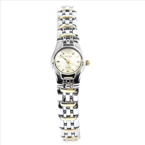 Sicura Womens Watches SAML 2182 54Y Gold Quartz Stainless Steel Two Tone