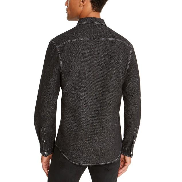 INC International Concepts Men's Lambert Shirt Black Size Medium