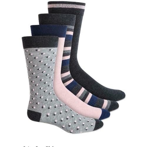 Bar III Men's 4-Pk. Socks  Gray Size Regular