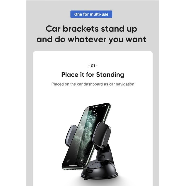 Universal Dashboard/Windshield Car Mount for Smartphones